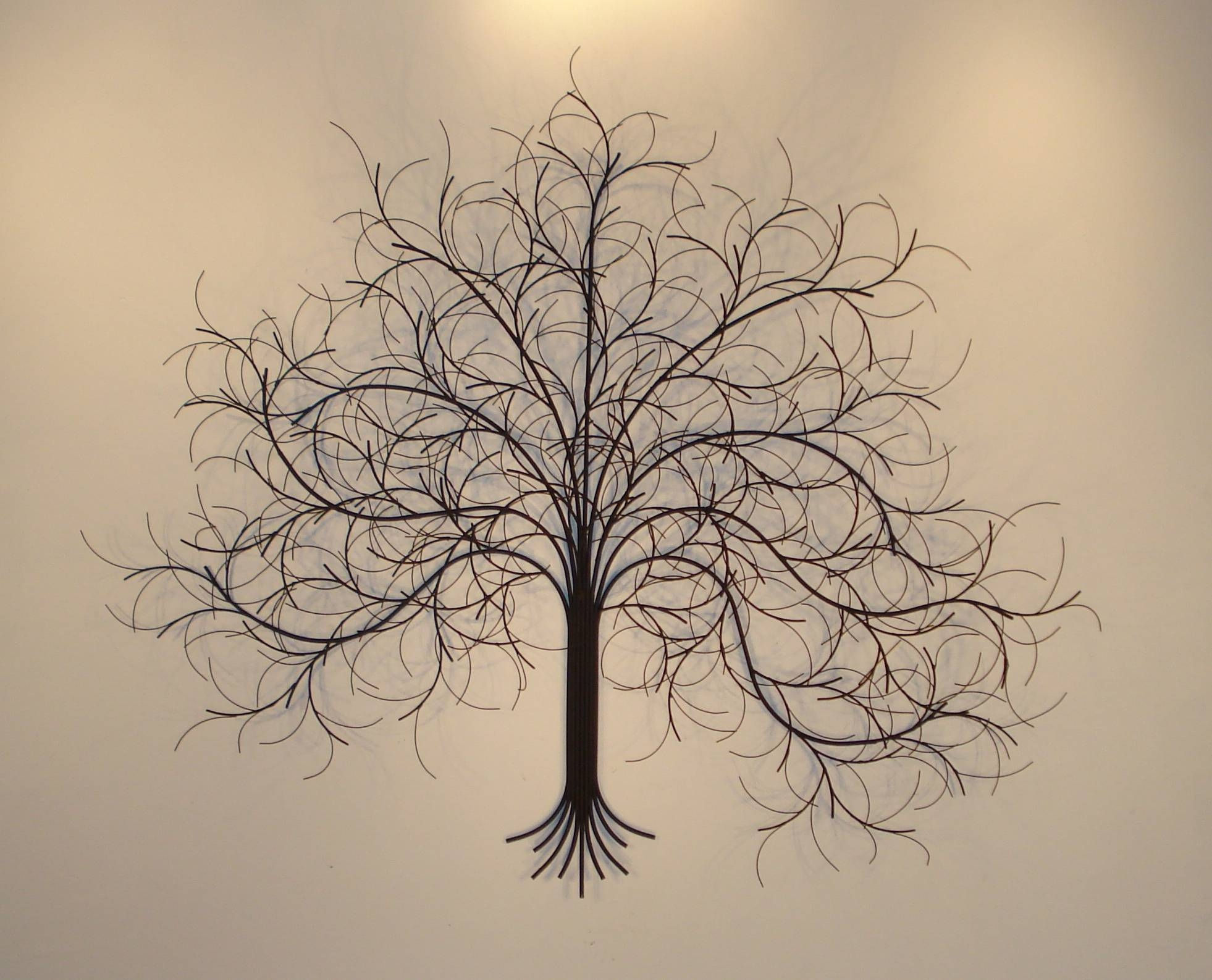 March Tree Metal Wall Art – Metal Sculpture And Wall Decor For Latest Black Metal Wall Art (View 2 of 20)