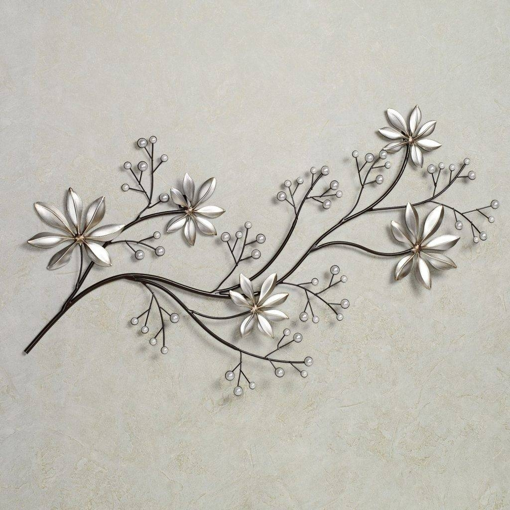 Marvellous Inspiration Flower Metal Wall Art Bronze Blue Brown In Newest Blue Flower Metal Wall Art (View 6 of 20)