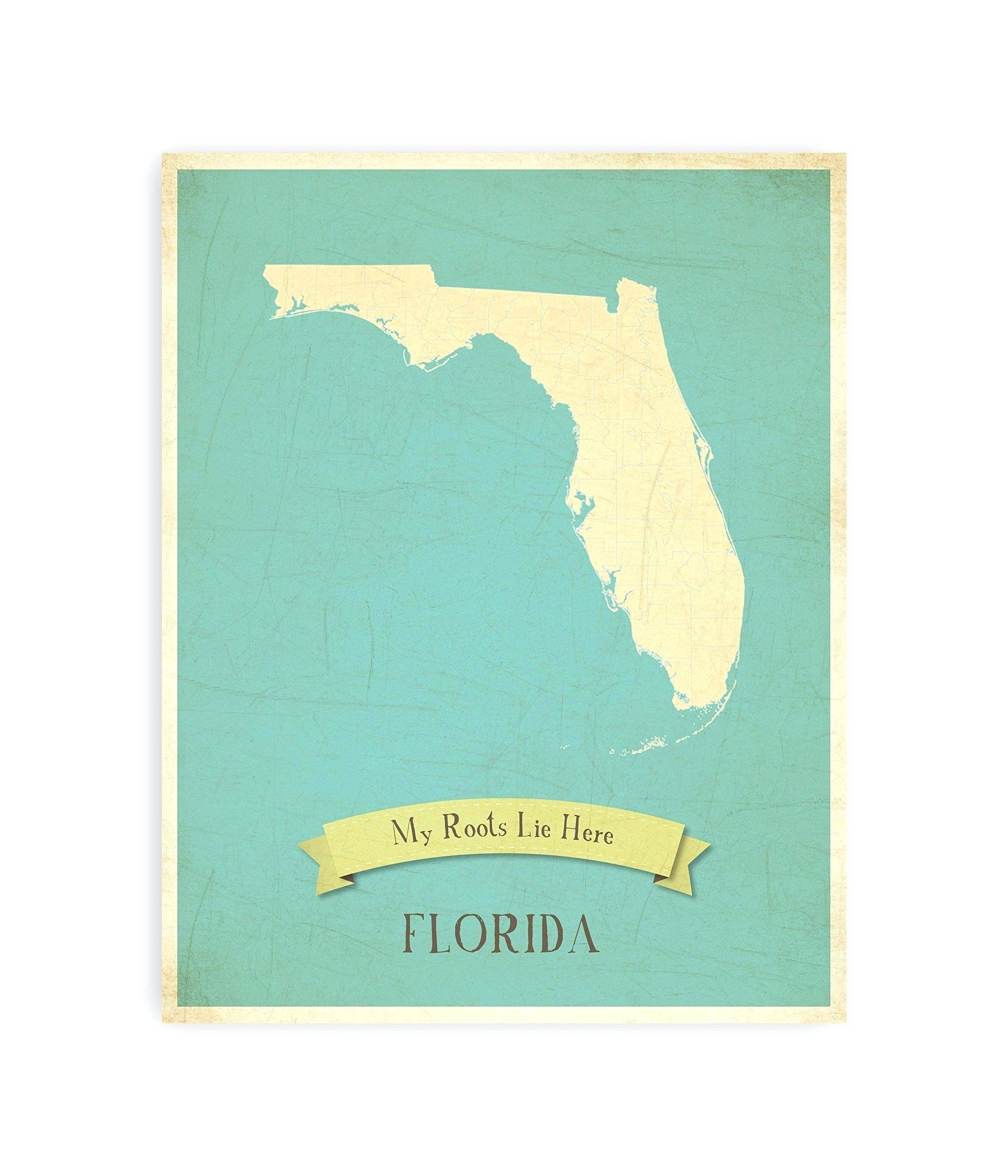 Marvelous Ideas Florida Wall Art Map Etsy – Wall Art Ideas For Current Florida Map Wall Art (View 6 of 20)