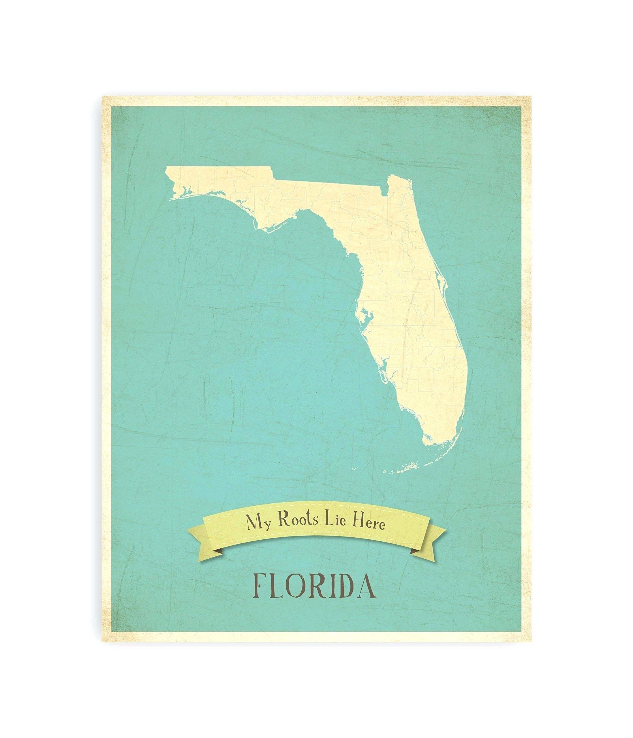Marvelous Ideas Florida Wall Art Map Etsy – Wall Art Ideas For Current Florida Map Wall Art (View 9 of 20)