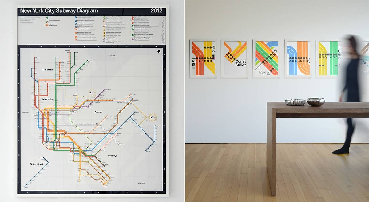 Massimo Vignelli's Signed 2012 Nyc Subway Diagram – Cool Hunting Regarding 2018 New York Subway Map Wall Art (View 7 of 20)