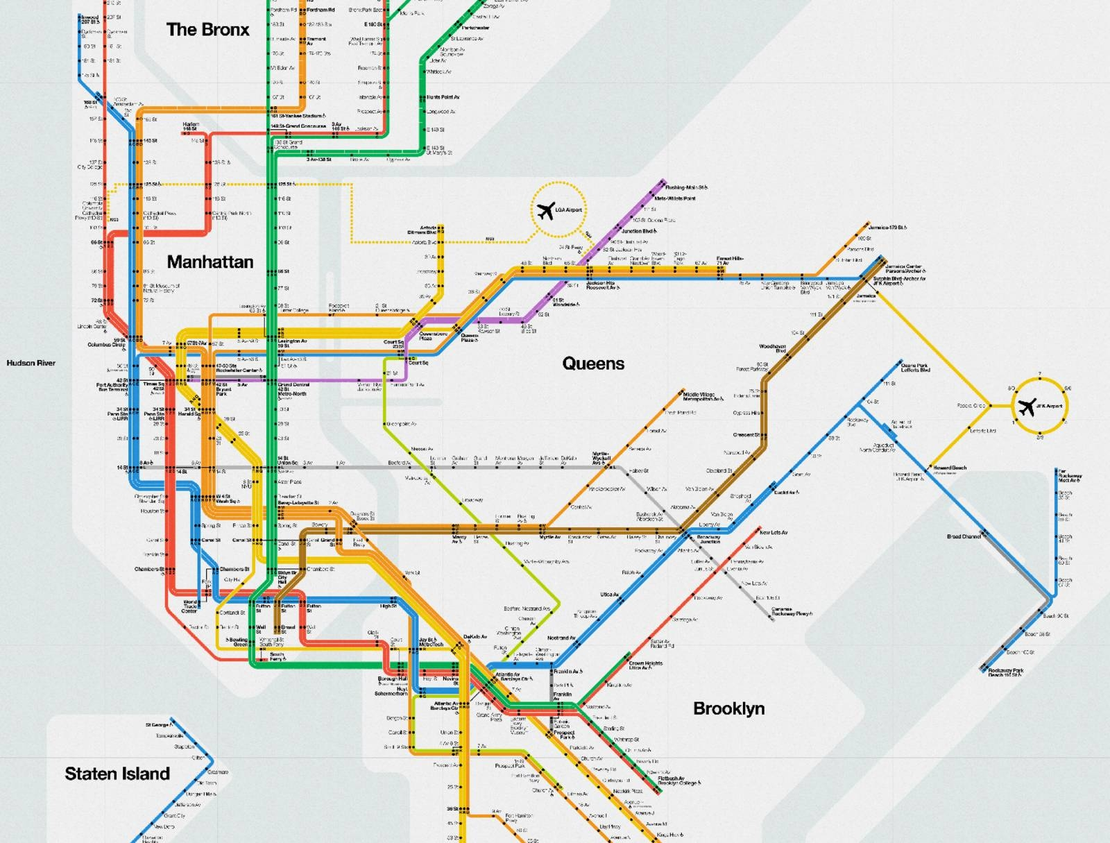 Massimo Vignelli's Signed 2012 Nyc Subway Diagram – Cool Hunting Regarding Latest New York Subway Map Wall Art (View 8 of 20)