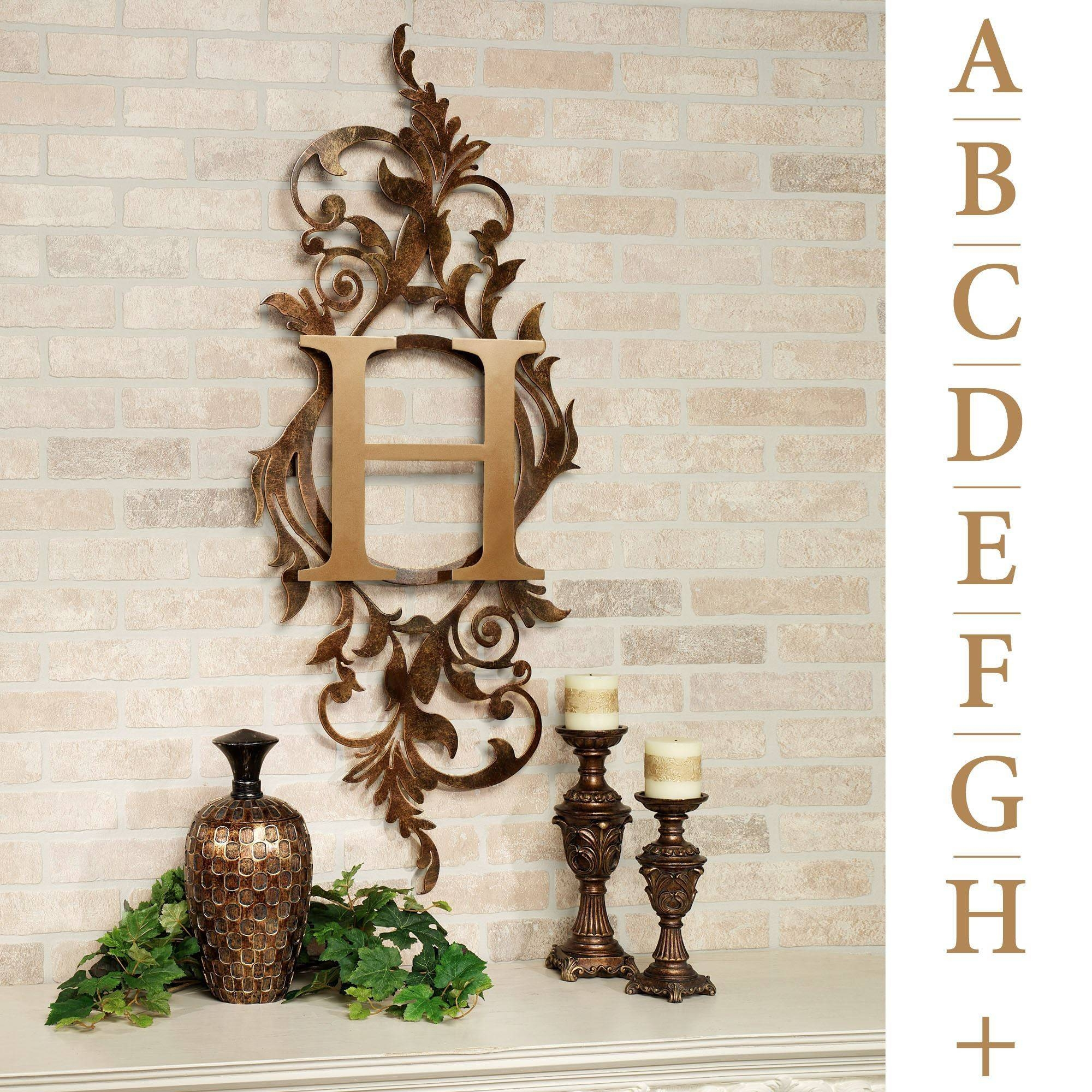 Meglynn Monogram Vertical Metal Wall Art Sign Regarding 2018 Vertical Metal Wall Art (View 6 of 20)