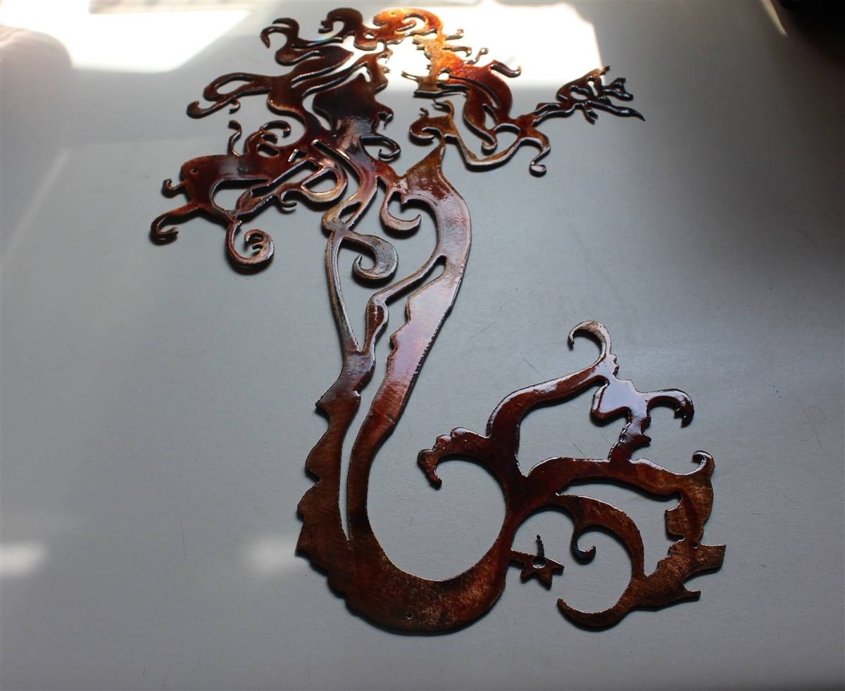 Mermaid Metal Art In Most Current Mermaid Metal Wall Art (View 4 of 20)