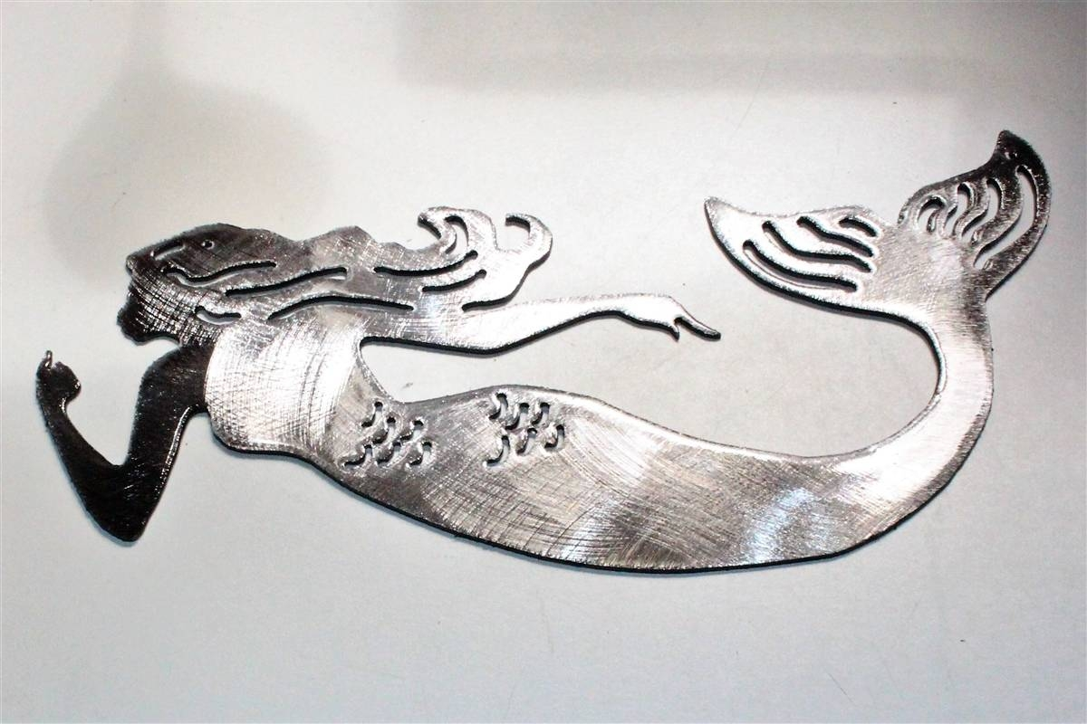 Mermaid Metal Art Throughout Best And Newest Black And White Metal Wall Art (View 8 of 20)