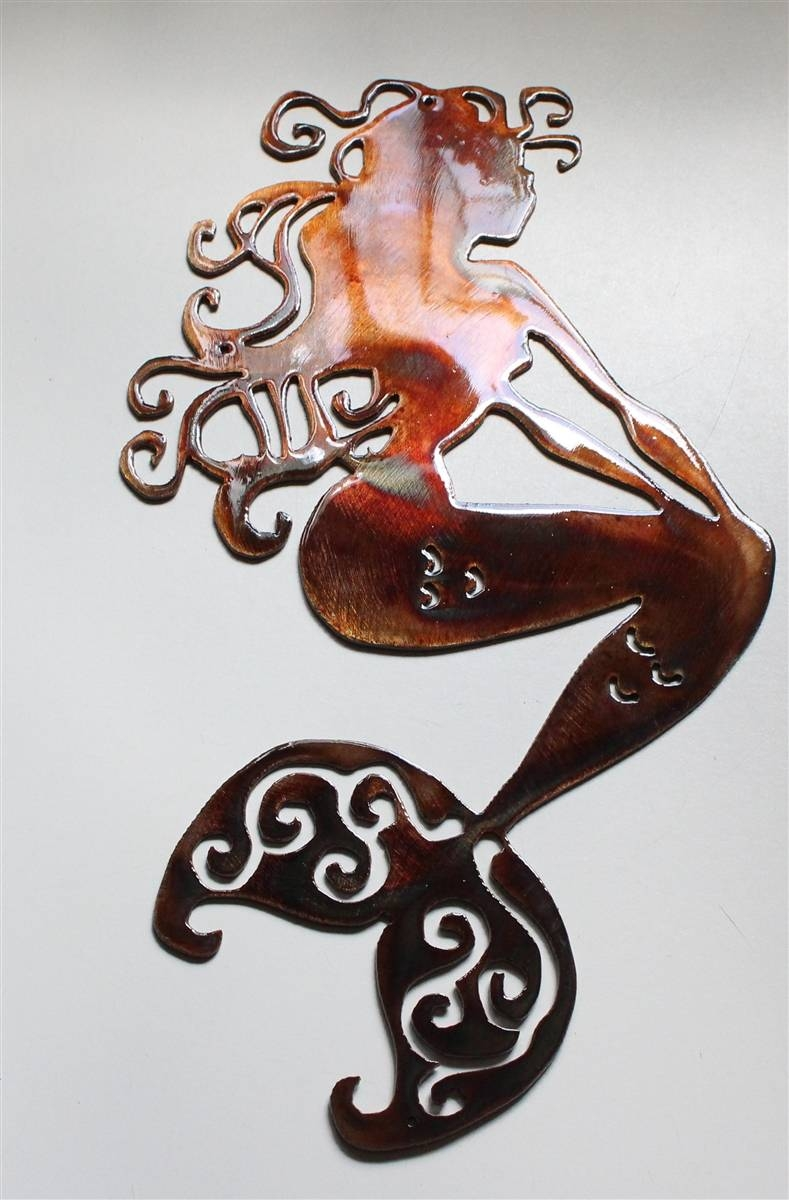 Mermaid Metal Art With Best And Newest Mermaid Metal Wall Art (View 11 of 20)