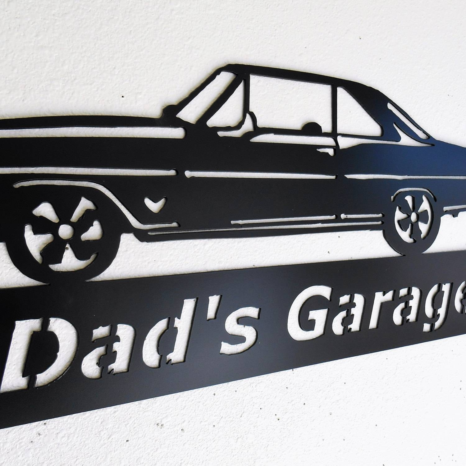 Mesmerizing Wall Decor Man Cave Garage Wall Garage Door Wall Art Pertaining To Most Up To Date Car Metal Wall Art (View 9 of 20)