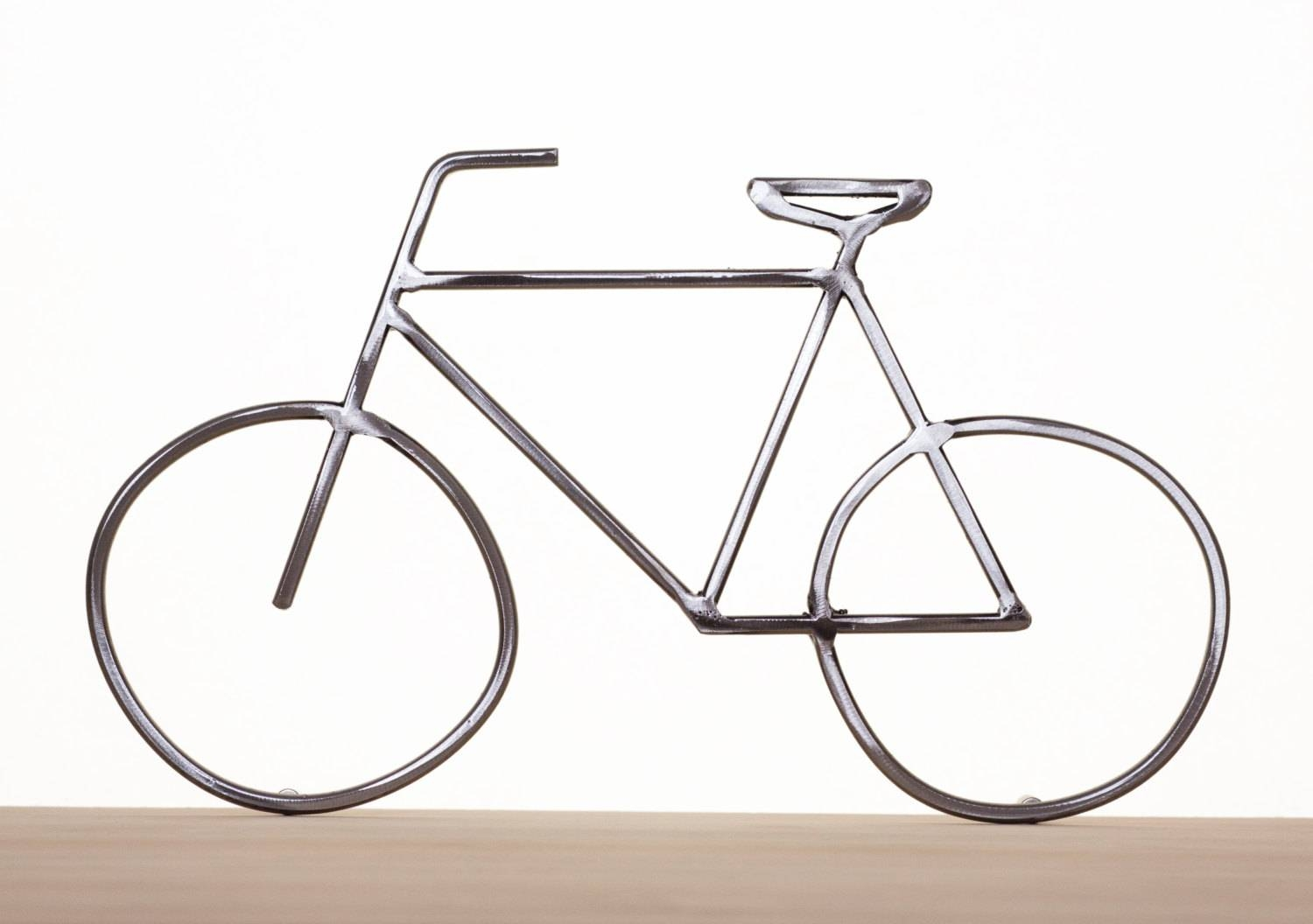 Metal Bike Art Bike Sculpture Metal Bicycle Metal Wall Art With Latest Handmade Metal Wall Art (View 11 of 20)