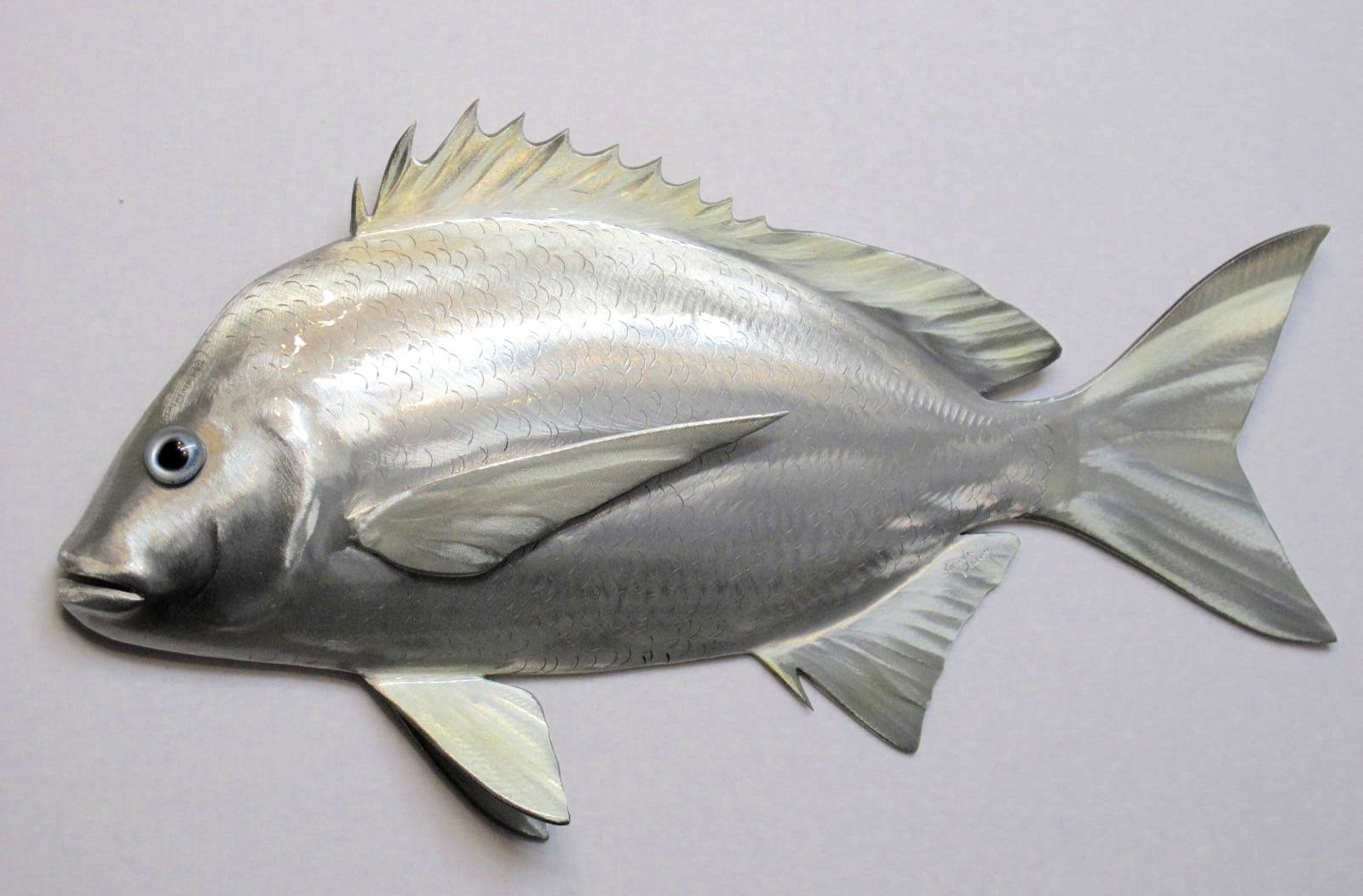 Metal Bottle Cap Fish Wall Art Snook 3Ericseasel On Etsy Within Latest Fish Metal Wall Art (View 6 of 20)