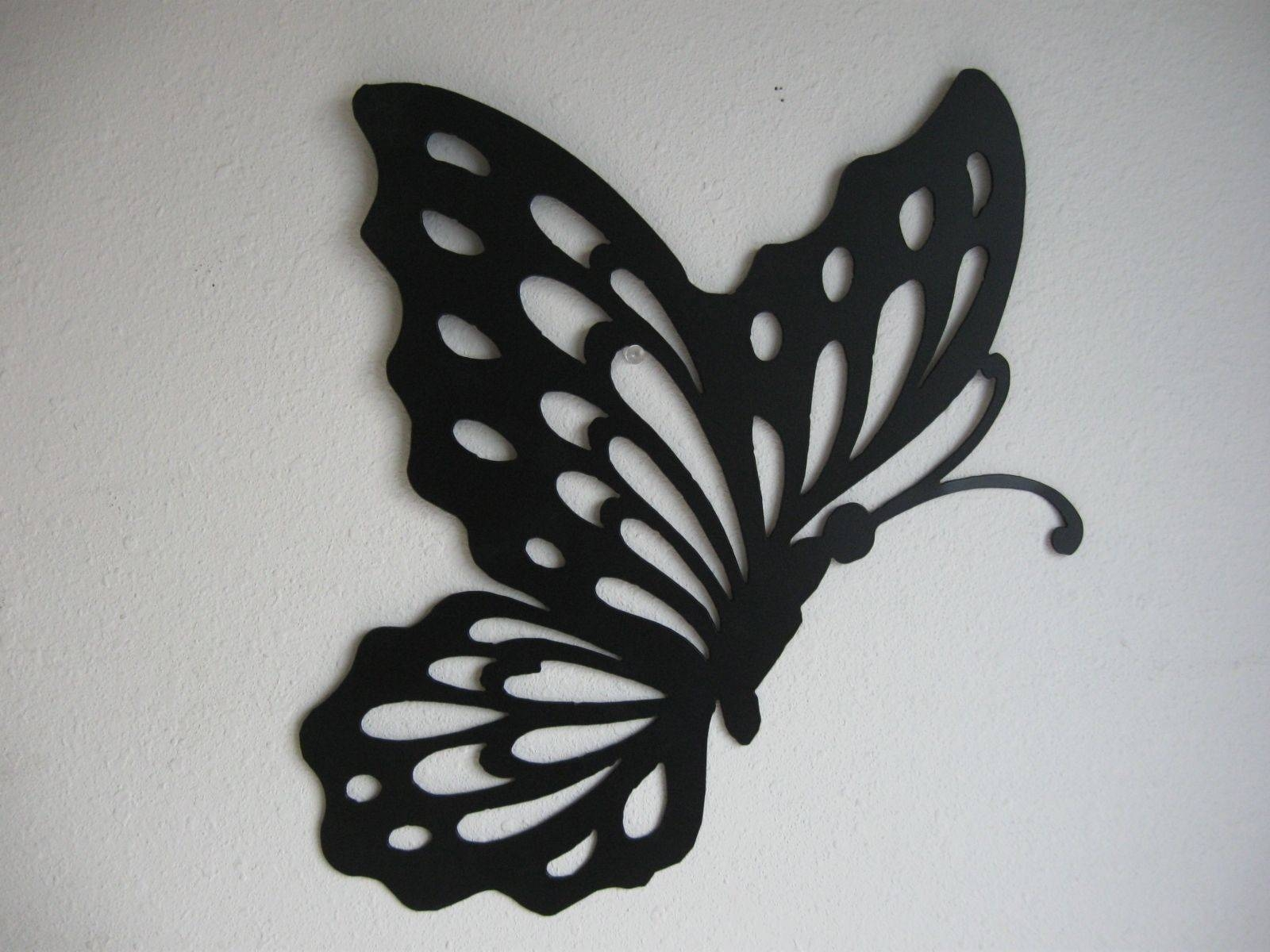 Metal Butterfly Wall Decor — Creative Home Decoration Throughout 2017 Butterflies Metal Wall Art (View 7 of 20)