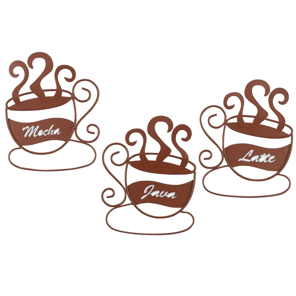 Metal Coffee Cup Wall Art, Set Of 3 – Metal Wall Art – Miles Kimball Within Most Recently Released Coffee Cup Metal Wall Art (View 13 of 20)