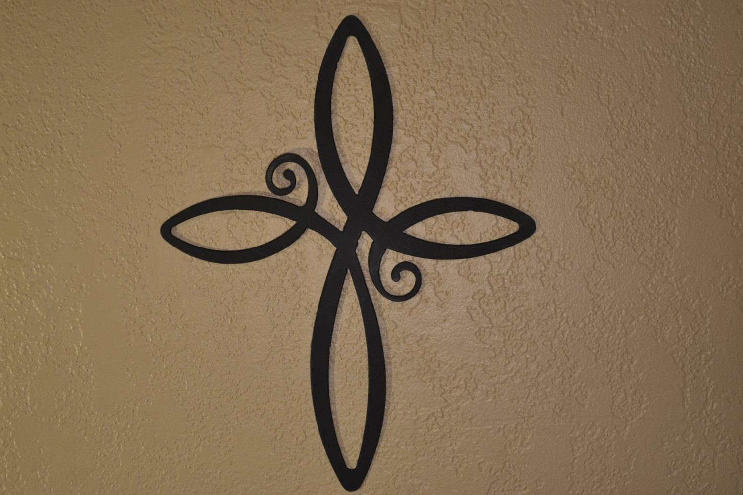 Metal Cross Wall Hanging Modern Cross Decor Christian Wall With Most Recently Released Religious Metal Wall Art (View 3 of 20)