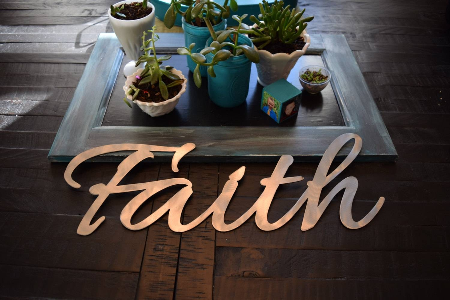 Metal Faith Sign – Cnc Metal, Metal Art , Custom Metal Sign, Metal Throughout Most Recently Released Christian Metal Wall Art (View 14 of 20)