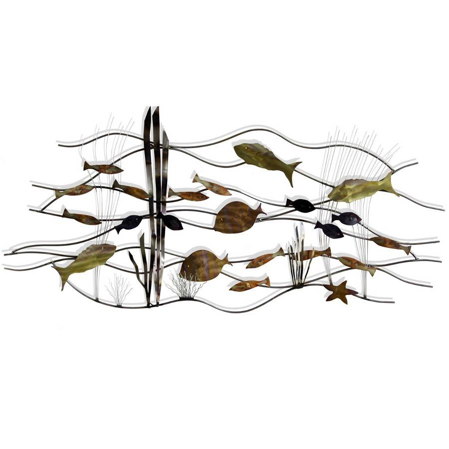 Metal Fish Art Wall Decor Choice Image – Home Wall Decoration Ideas Regarding Most Up To Date School Of Fish Metal Wall Art (View 7 of 20)