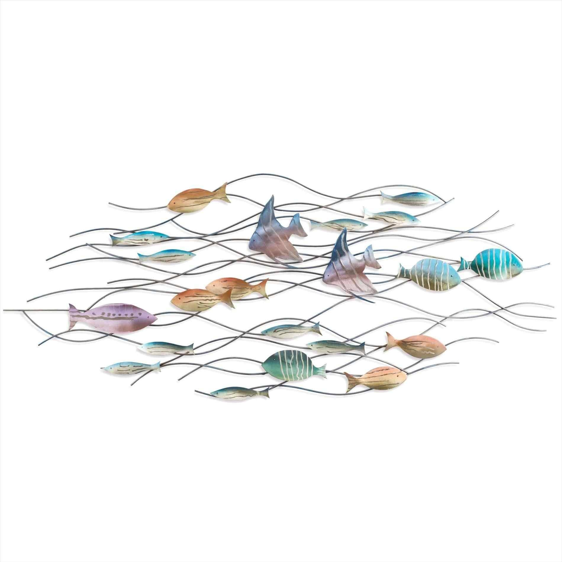 Metal Fish Wall Art New Zealand Ocean Gems Decor Bronze Design Uk Pertaining To Latest New Zealand Metal Wall Art (View 6 of 20)