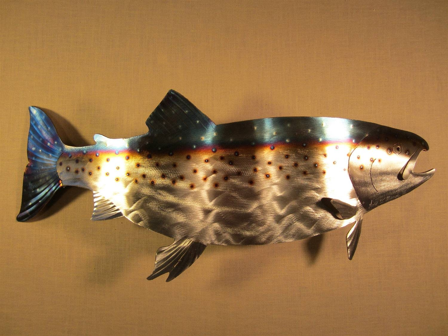 Metal Fish Wall Art | Roselawnlutheran Within Most Popular Fish Metal Wall Art (View 8 of 20)
