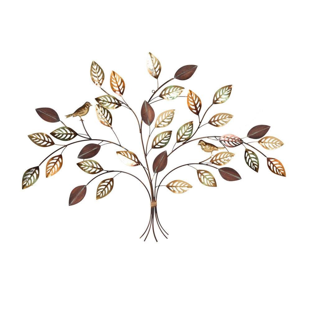 Metal Leaf Wall Art | Ebay With Latest Metal Wall Art Leaves (View 13 of 20)