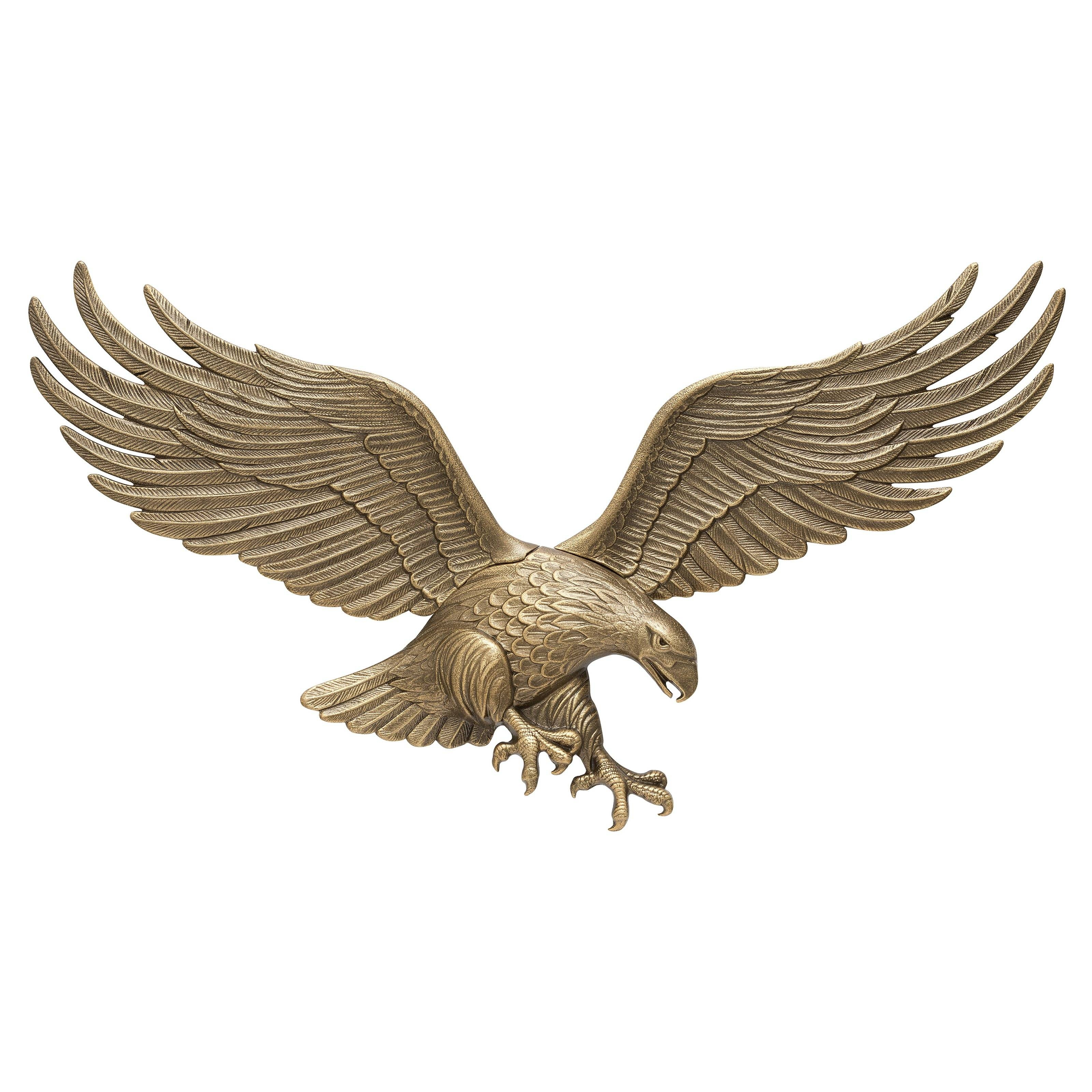Metal Outdoor Wall Art | Hayneedle Pertaining To Recent Eagle Metal Wall Art (View 9 of 20)