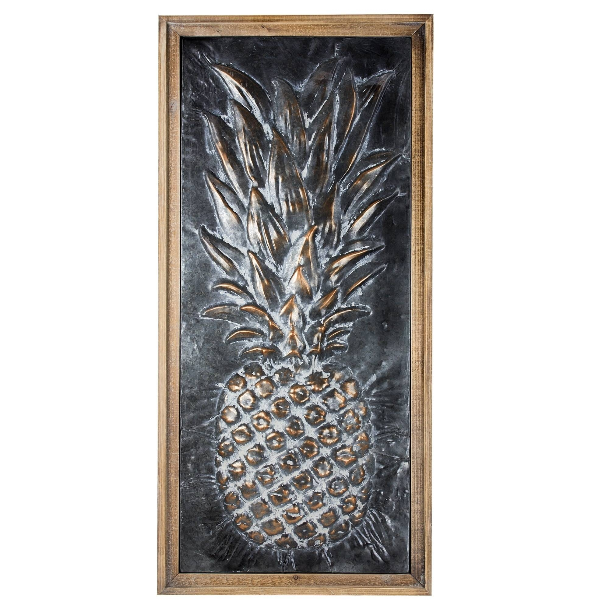 Metal Pineapple Wall Art – Free Shipping Today – Overstock For Current Pineapple Metal Wall Art (View 8 of 20)