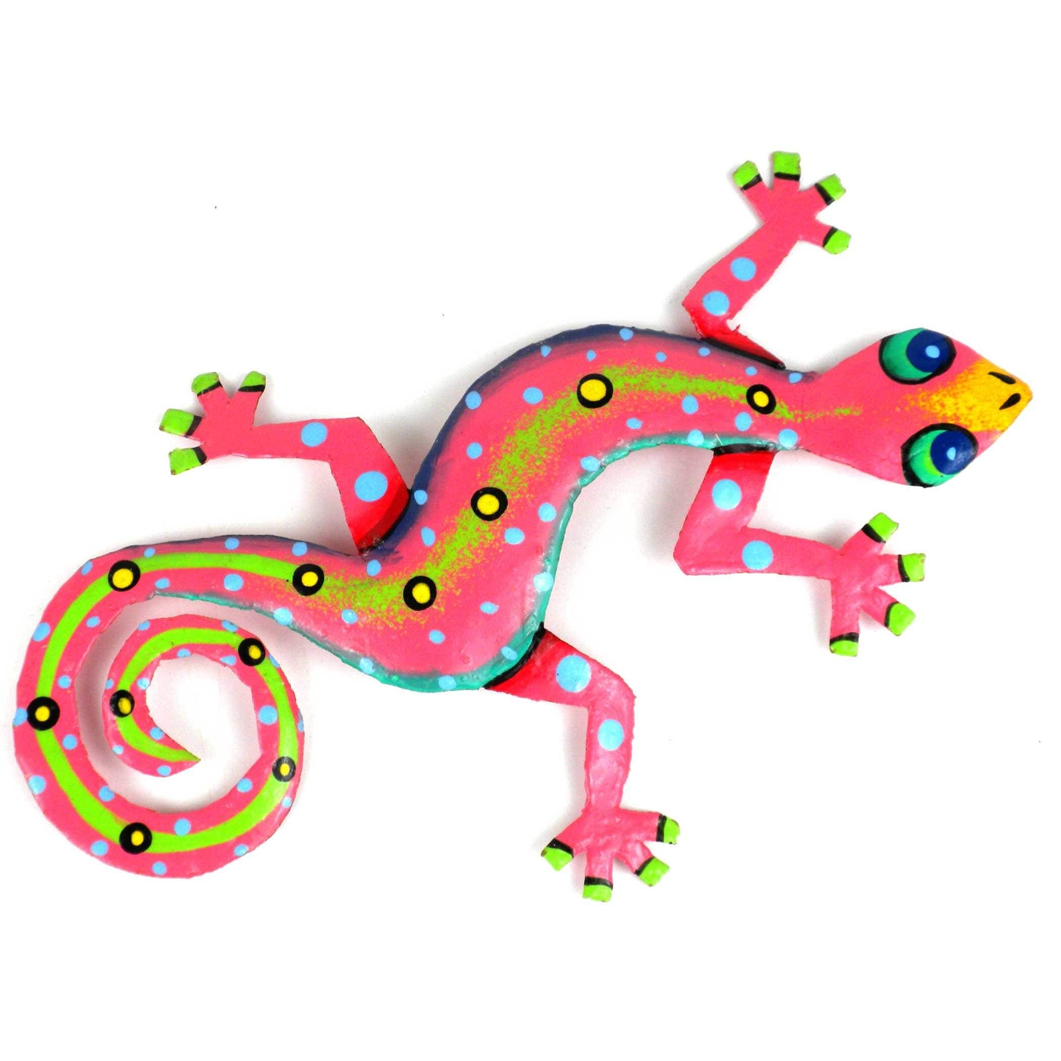 Metal 'pink Gecko' Wall Art , Handmade In Haiti – Free Shipping On Inside Latest Gecko Metal Wall Art (View 18 of 20)