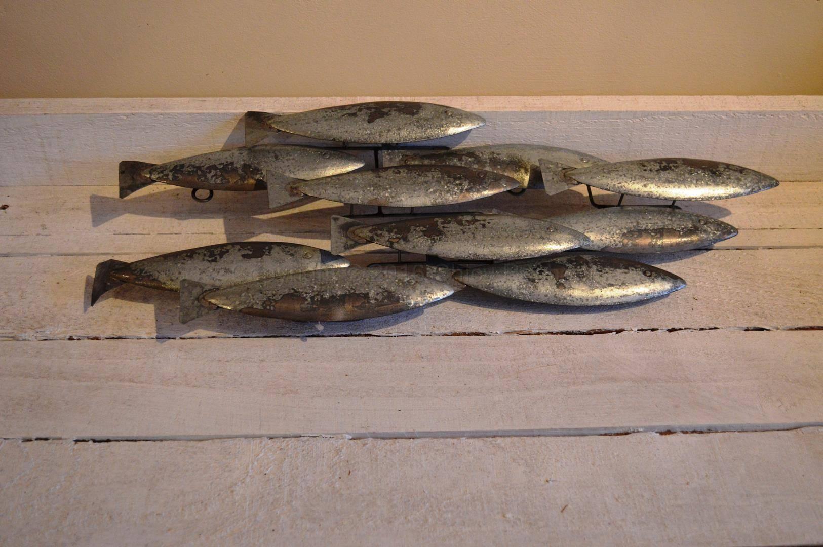 Metal School Of Fish Wall Art – Chicy Rachael Inside Most Recent School Of Fish Metal Wall Art (View 9 of 20)