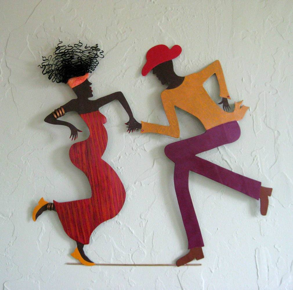Metal Wall Art Cajun Dance Sculpture Recycled Metal Caribbean Throughout Most Recently Released Metal Wall Art Dancers (View 13 of 20)