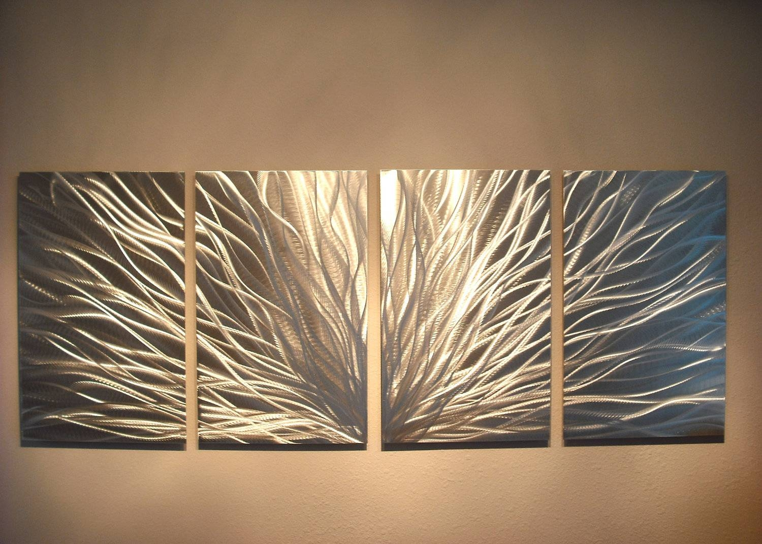 Metal Wall Art Decor Abstract Aluminum Contemporary Modern Within Recent Sheet Metal Wall Art (View 10 of 20)