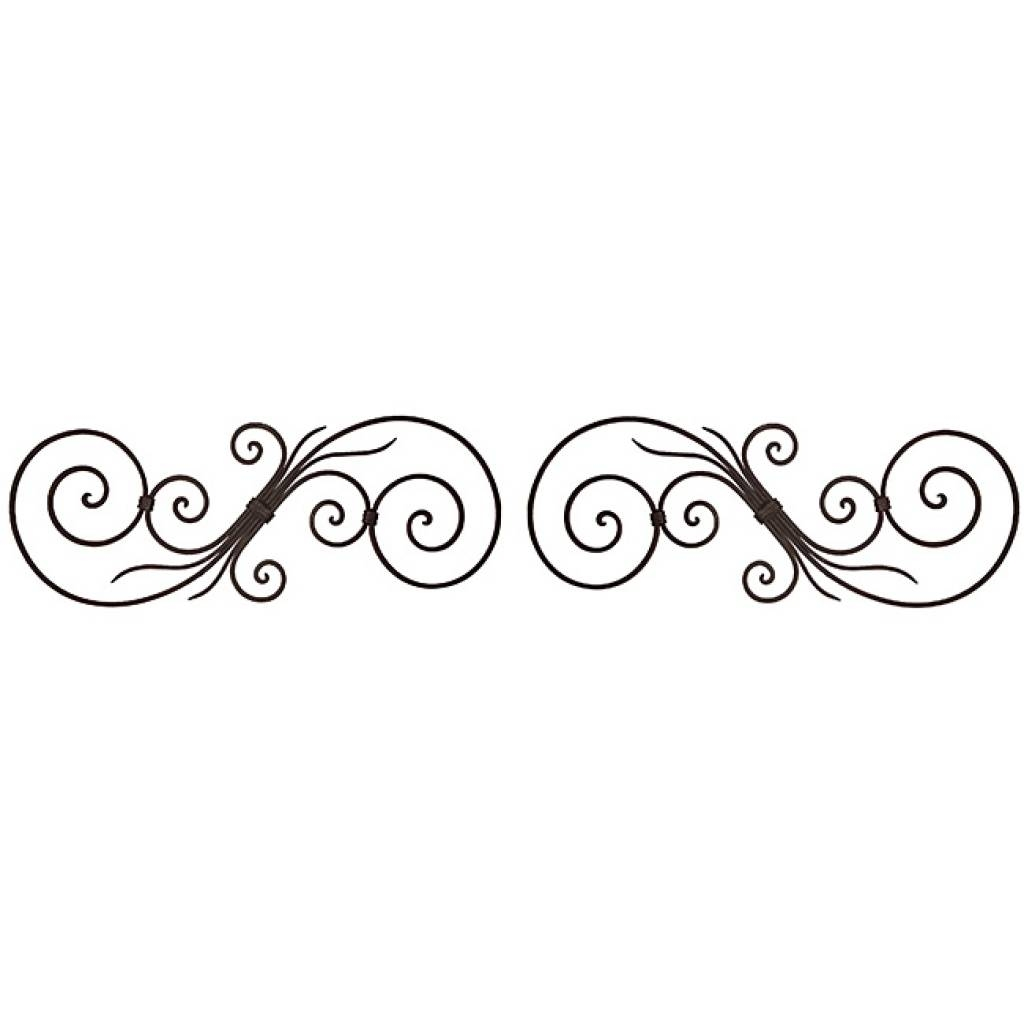 Metal Wall Art Decor Accents Decorative Scroll Corners Set Of 4 Throughout Best And Newest Scrolled Metal Wall Art (View 11 of 20)