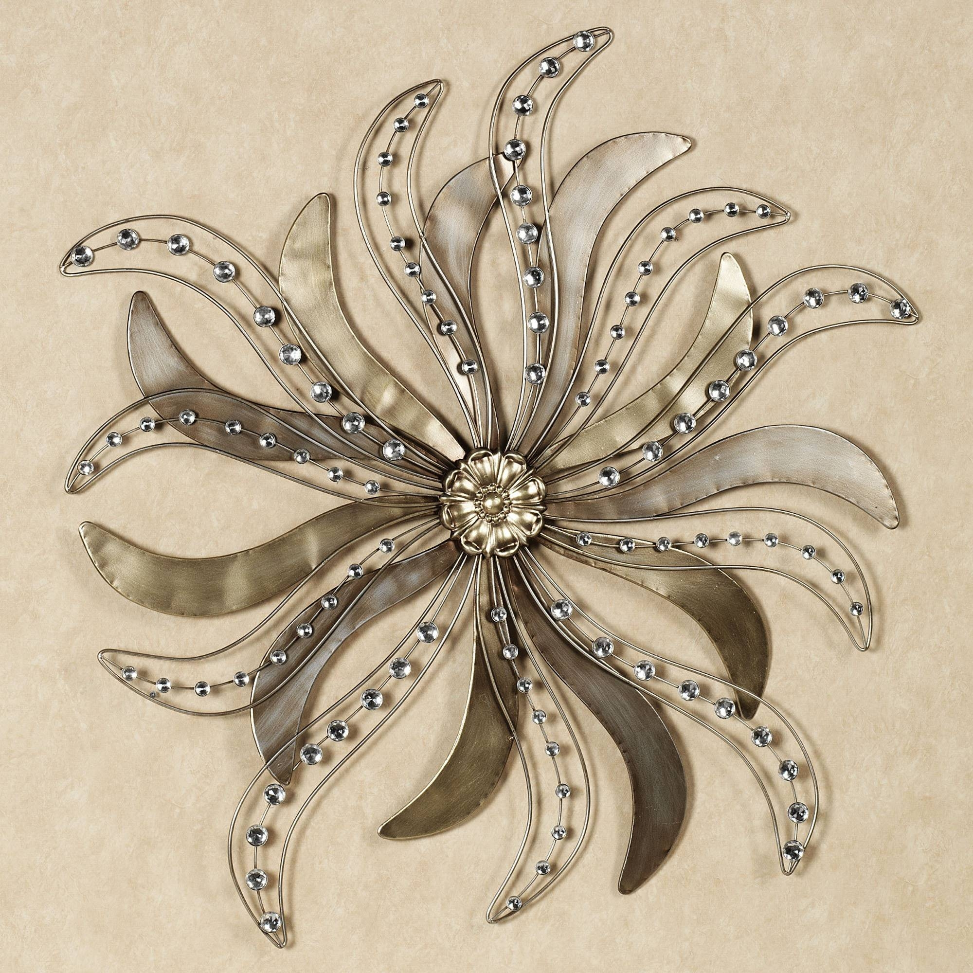 Metal Wall Art Decor And Sculptures Pretty Image : Some Tips Of With Regard To Current Flower Metal Wall Art (View 10 of 20)