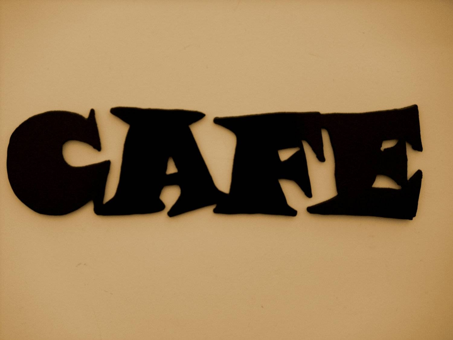 Metal Wall Art Decor Cafe Word Kitchen Free Shipping Regarding Current Cafe Metal Wall Art (View 4 of 20)