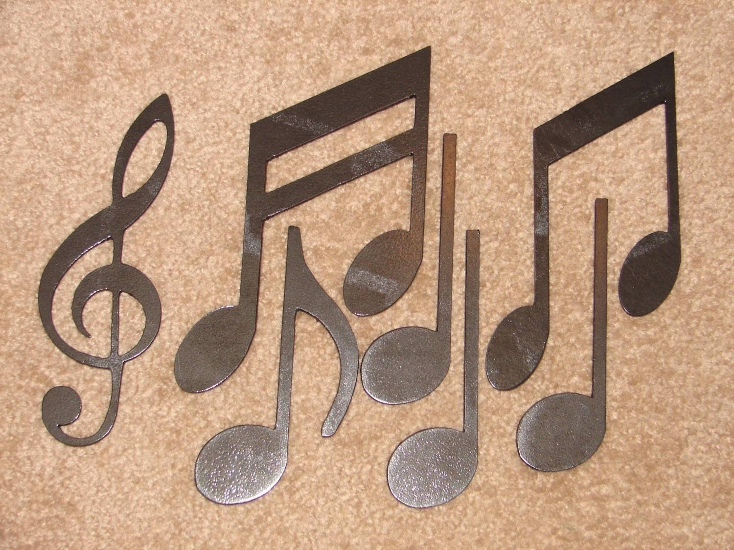 Metal Wall Art Decor Music Notes Musical Note Patio Intended For Newest Musical Metal Wall Art (View 10 of 20)