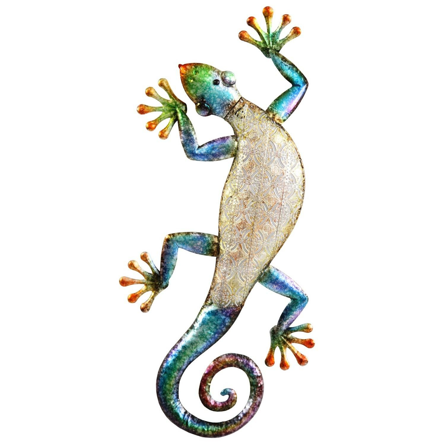 Metal Wall Art Gecko | Decorcave For Most Up To Date Gecko Metal Wall Art (View 4 of 20)