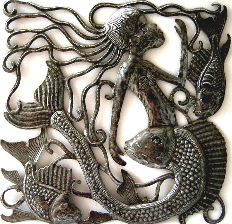 Metal Wall Art Home Decor Metal Mermaid Wall Hanging With Regard To 2017 Haitian Metal Wall Art (View 7 of 20)