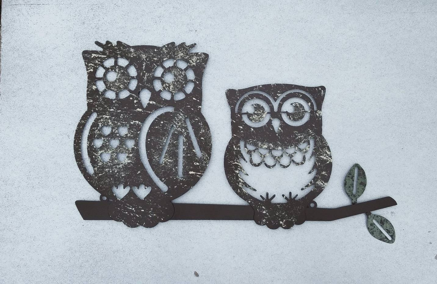 Metal Wall Art / Owl Home Decor / Owl Wall Art / Owl Wall Intended For Latest Owls Metal Wall Art (View 7 of 20)