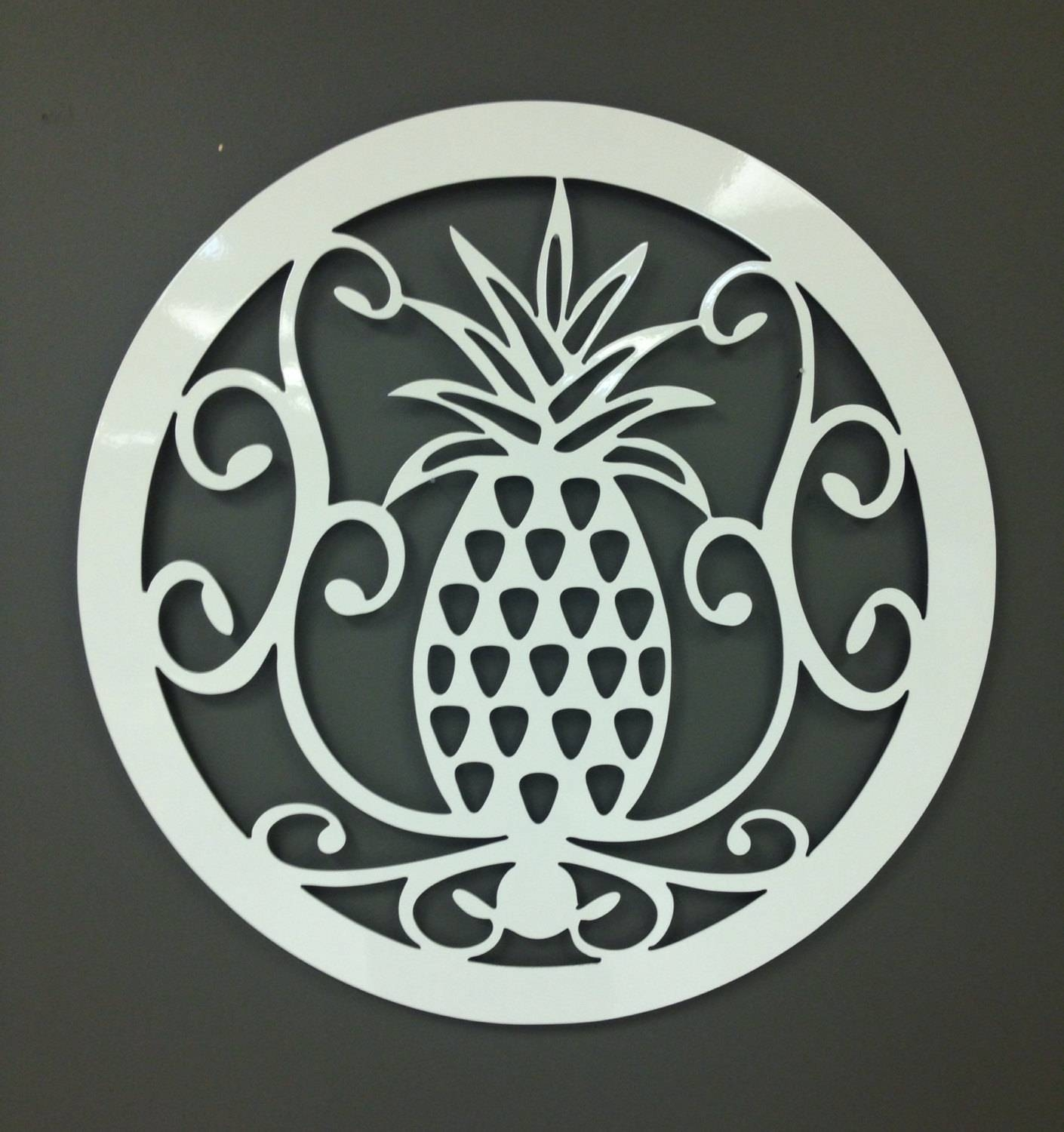 Featured Photo of Pineapple Metal Wall Art