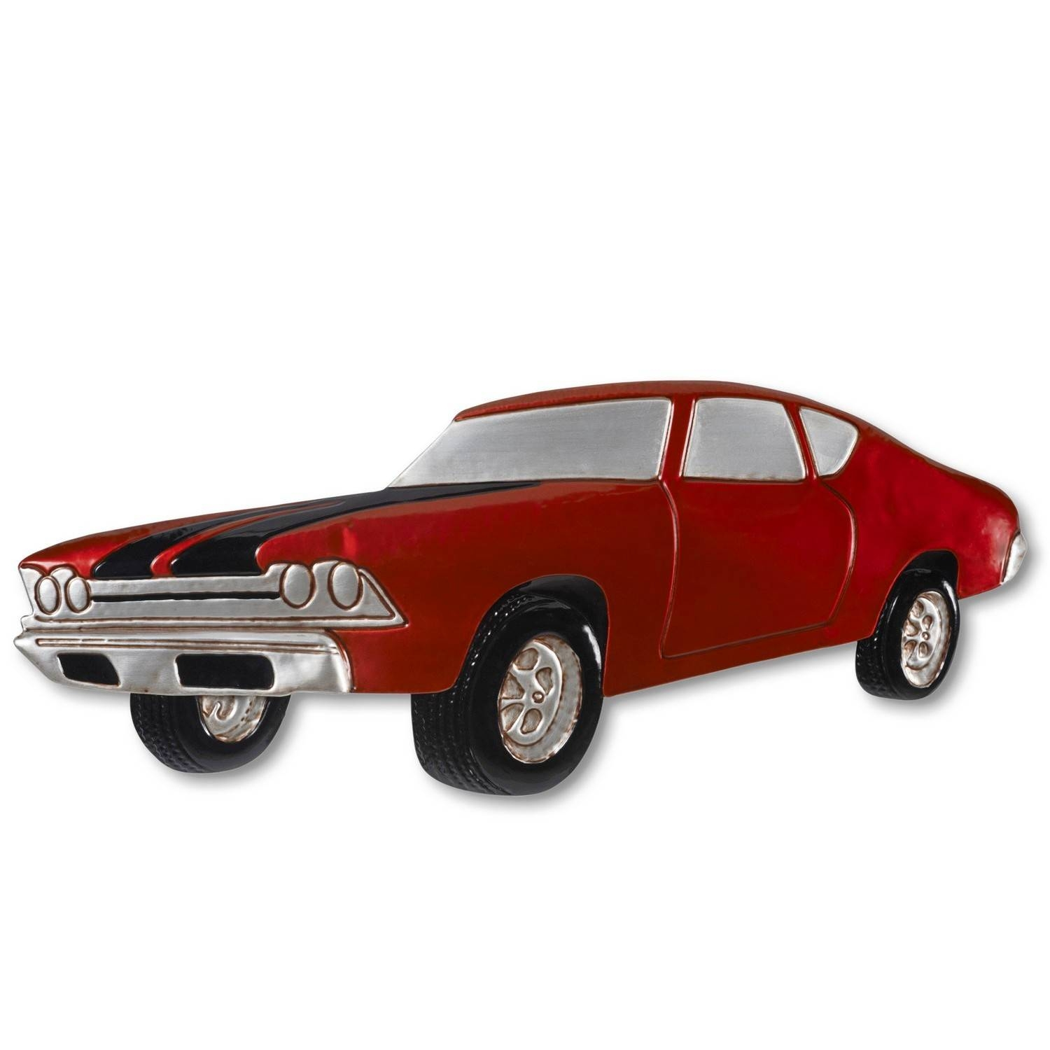 Metal Wall Art Red Vintage Car | Decorcave In Most Recent Car Metal Wall Art (View 9 of 20)