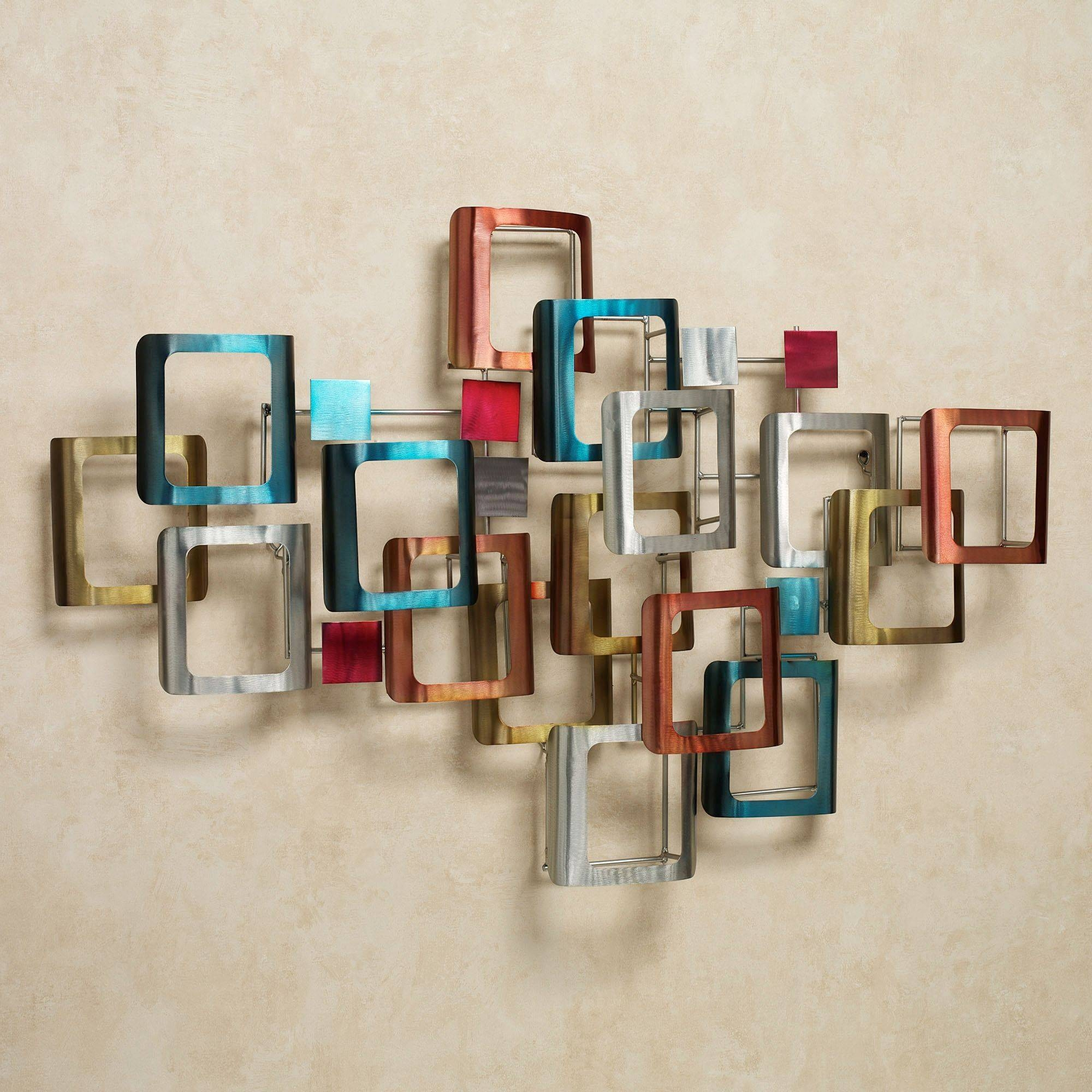 Metal Wall Art Sculptures | Touch Of Class In 2018 Multi Color Metal Wall Art (View 10 of 20)