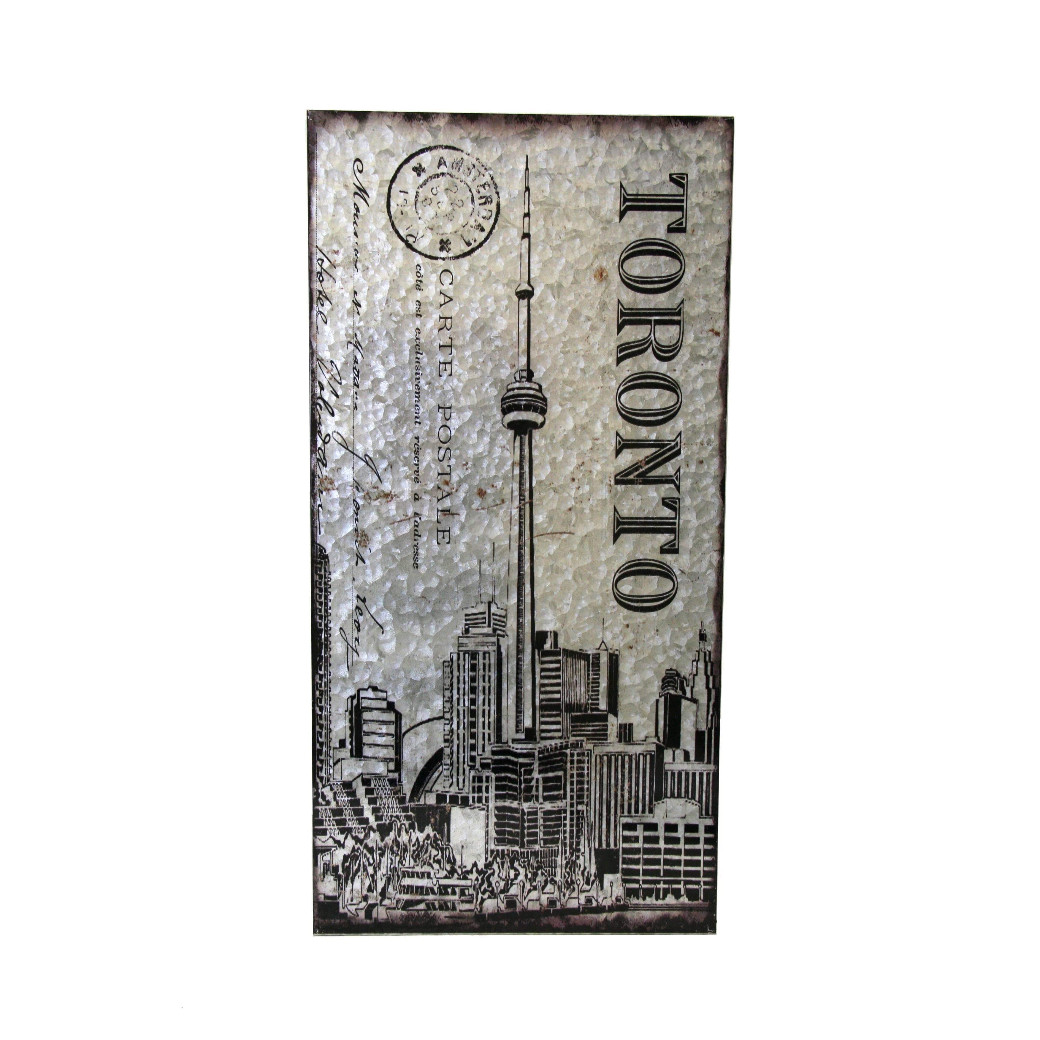 Metal Wall Art – Toronto Cn Tower   Boxman With Regard To Current Toronto Metal Wall Art (View 7 of 20)