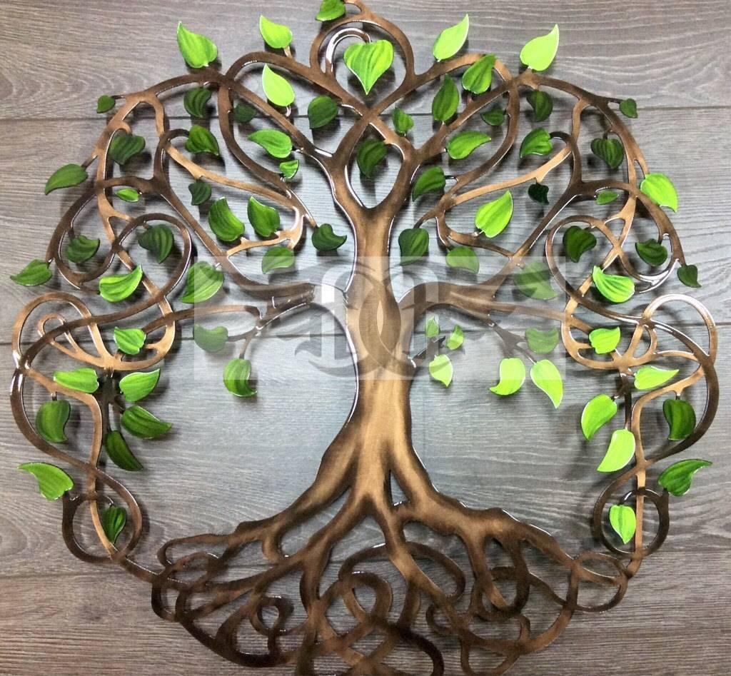 Metal Wall Art Tree Of Life Wall Decor Wall Art Regarding Recent Large Tree Of Life Metal Wall Art (View 9 of 20)