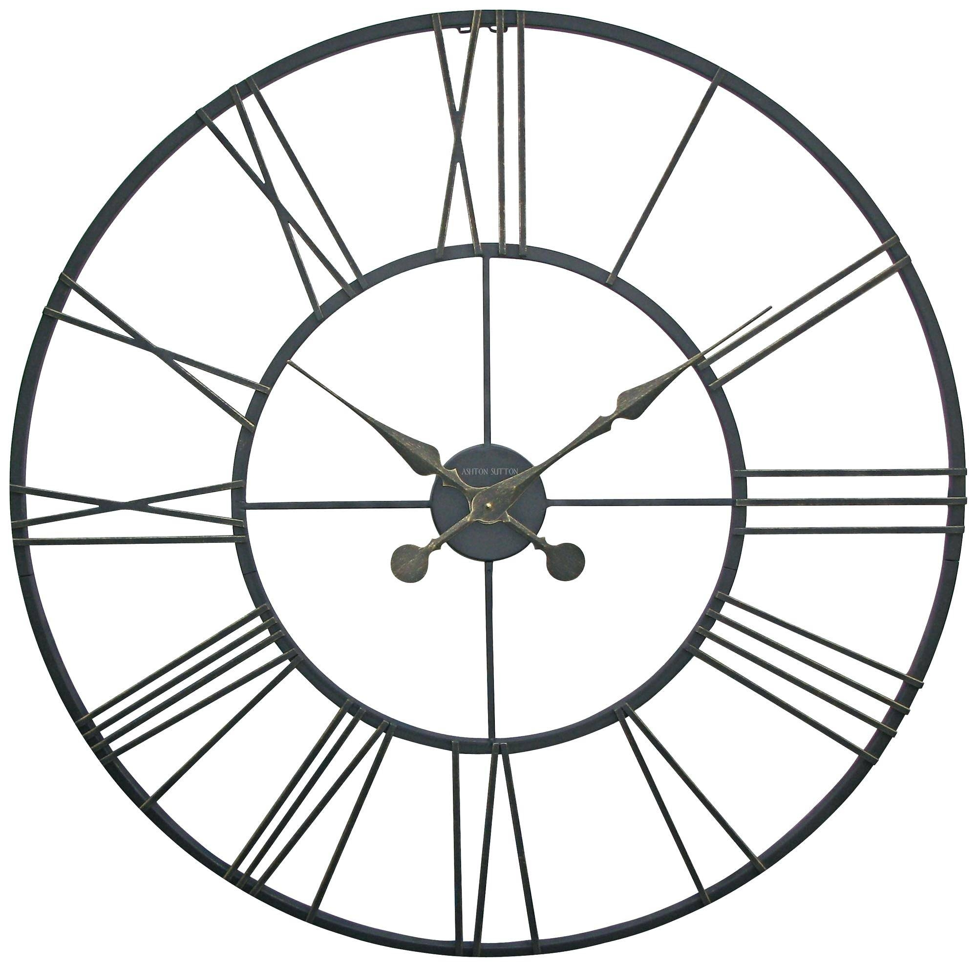Metal Wall Clock Art Welded Round Large Studio 22 – Ouest Usa Within Best And Newest Large Metal Wall Art Clocks (View 14 of 20)