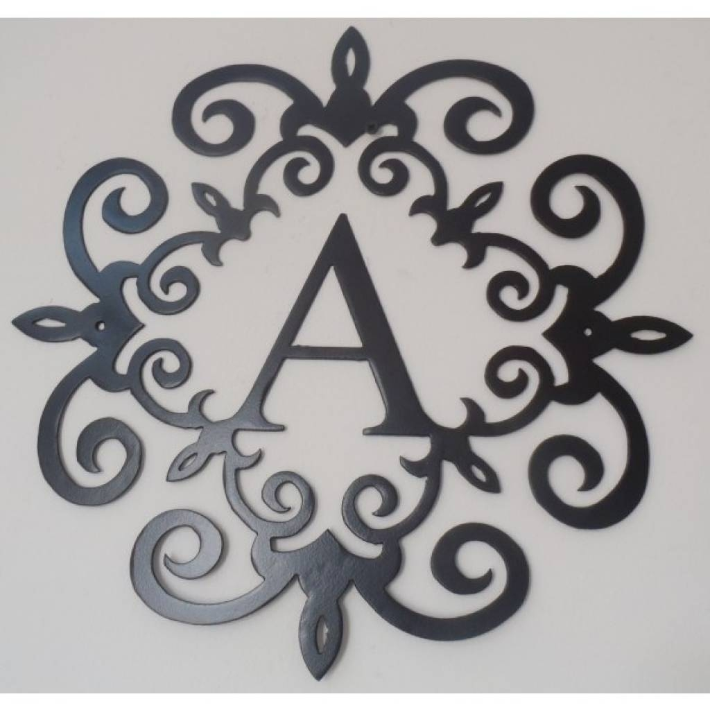 Metal Wall Decor Letters Wall Art Designs Black Metal Wall Art Intended For Best And Newest Monogram Metal Wall Art (View 12 of 20)