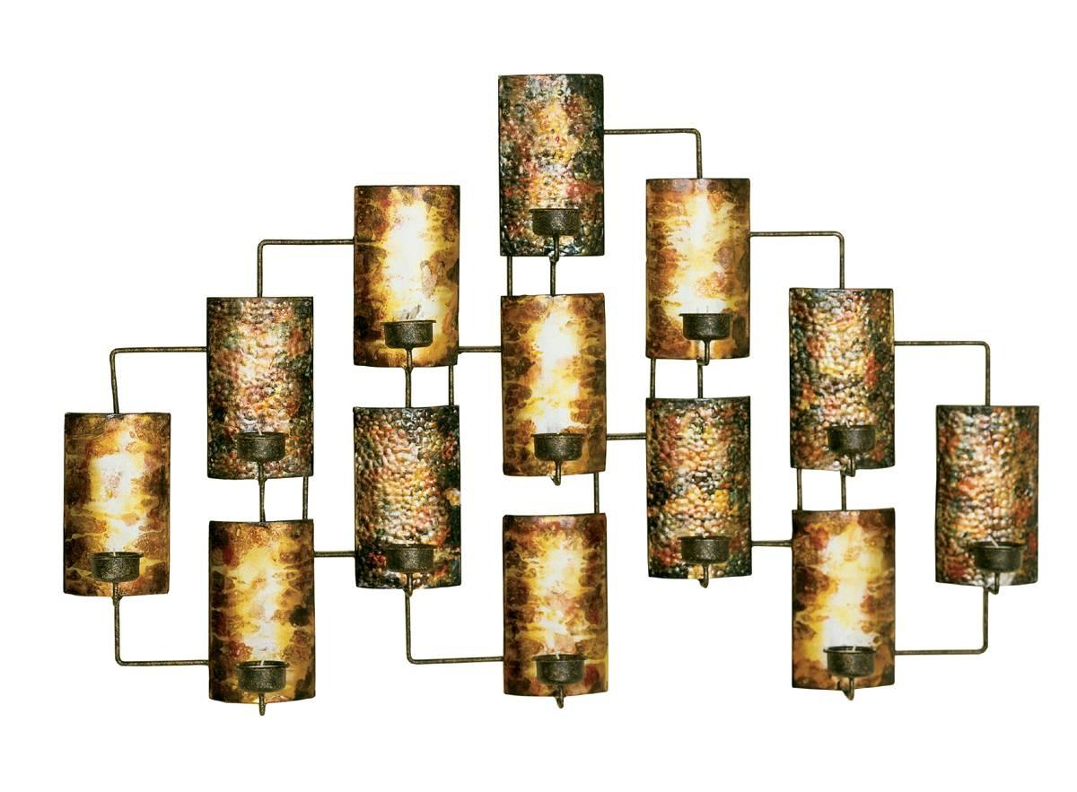 Metal Wall Designs Home Decor Art Metallic Wall Art Metal Wall Throughout 2017 Metal Wall Art Candle Holder (View 14 of 20)