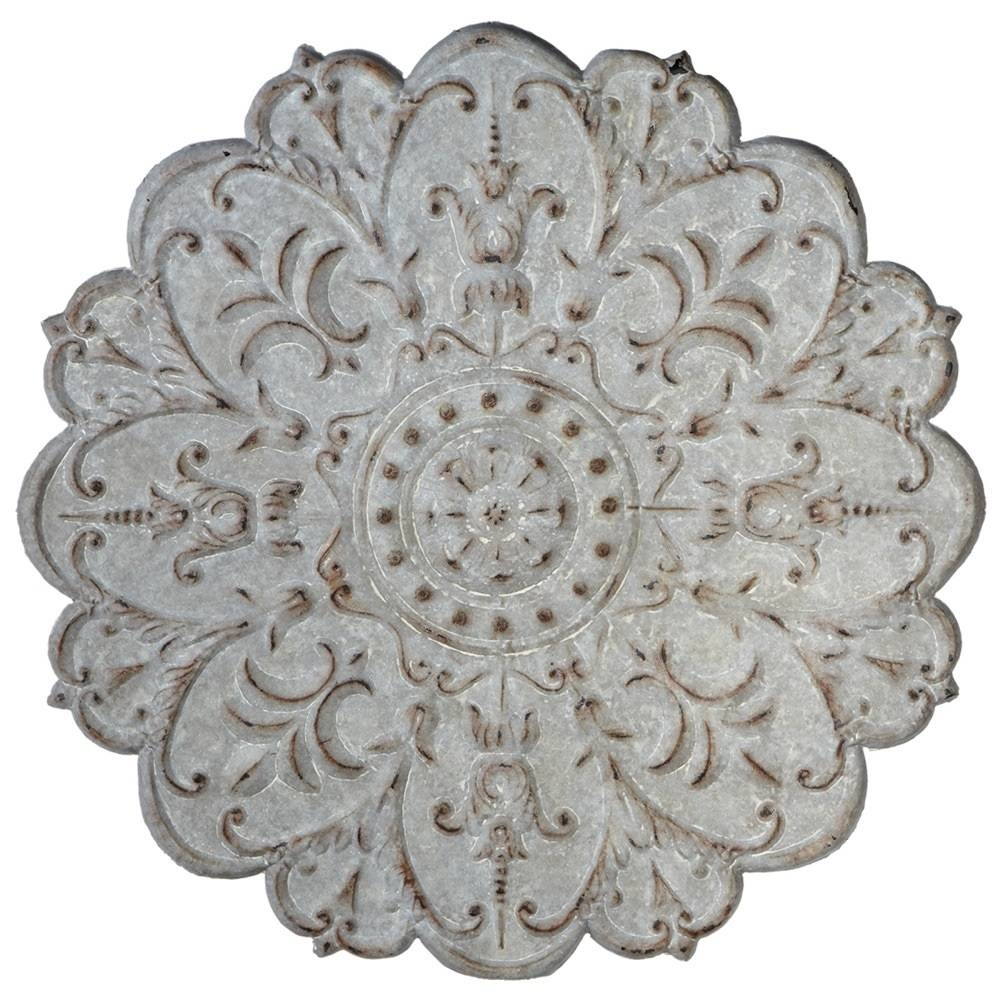 Metal Wall Medallion | Wall Art | Antique Grey | Distressed With Regard To Latest Distressed Metal Wall Art (View 4 of 20)