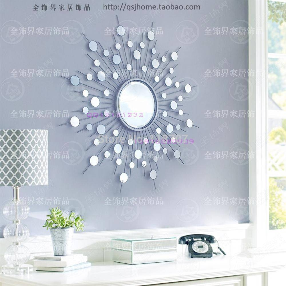 Metal Wall Mirror Decor Modern Mirrored Wall Art Wire Wall Art With 2018 Metal Wall Art Mirrors (View 9 of 20)