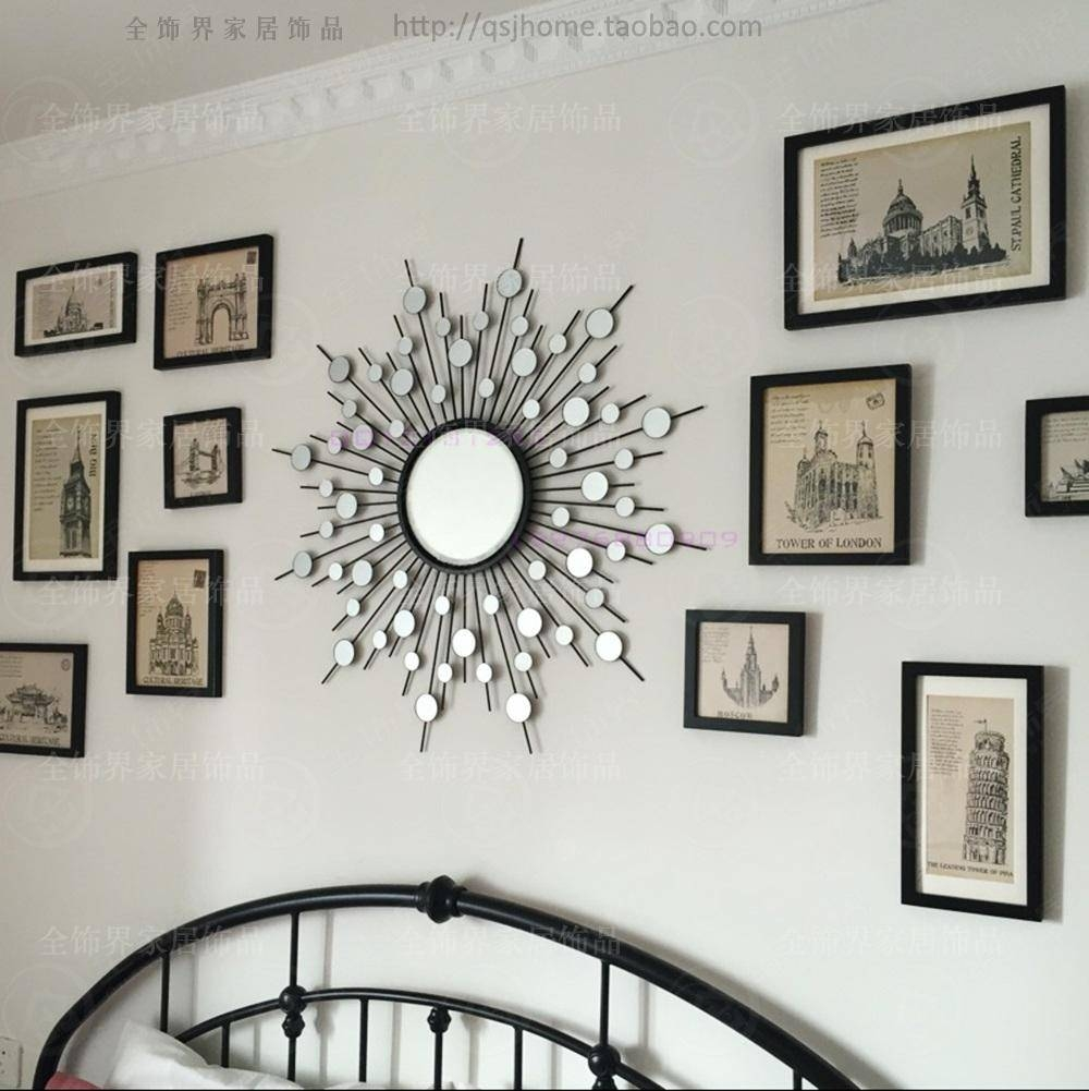 Metal Wall Mirror Decor Modern Mirrored Wall Art Wire Wall Art Within Most Current Metal Wall Art With Mirrors (View 3 of 20)