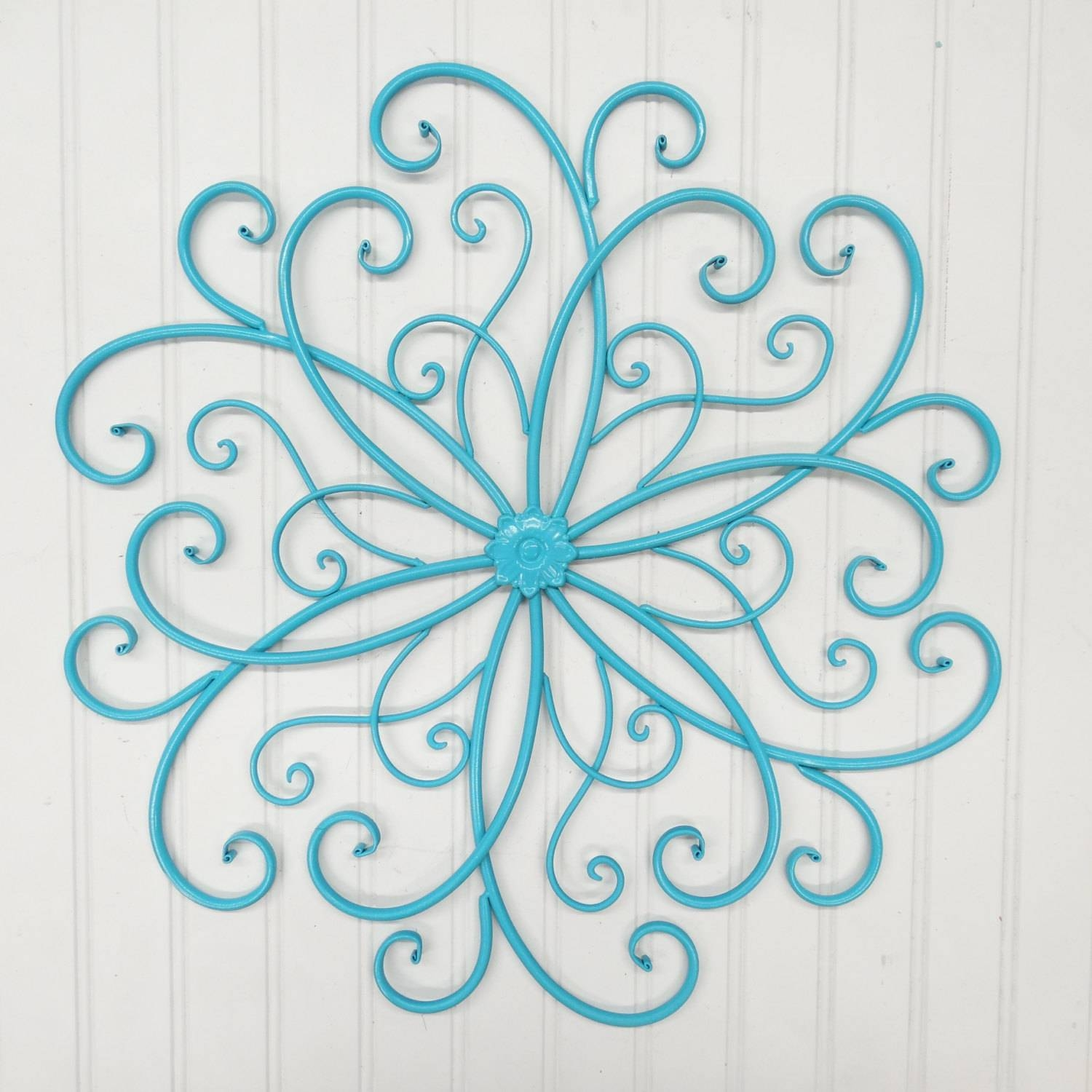 Metal Wall Scroll/wall Decor/bohemian/metal Wall Decor//rustic With Most Popular Turquoise Metal Wall Art (View 19 of 20)