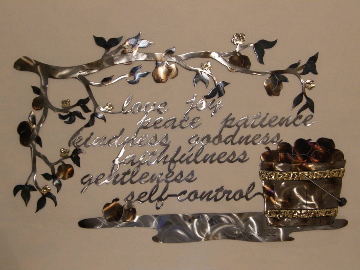 Metal Wall Sculpture Of Fruit Of The Spirit Pertaining To 2017 Christian Metal Wall Art (View 15 of 20)