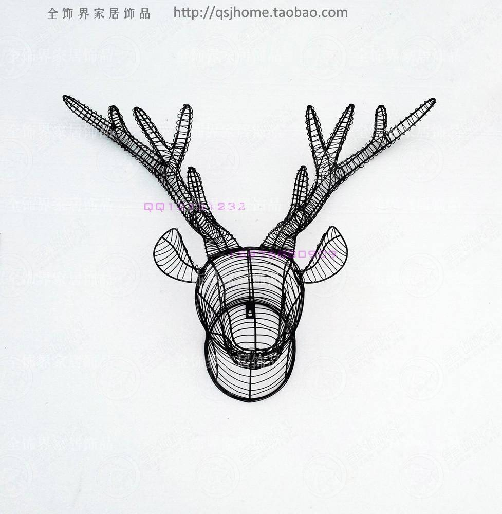 Metal Wire Wall Art Iron Deer Head Wall Decoration Metal Wall Art With Most Popular Deer Metal Wall Art (View 12 of 20)