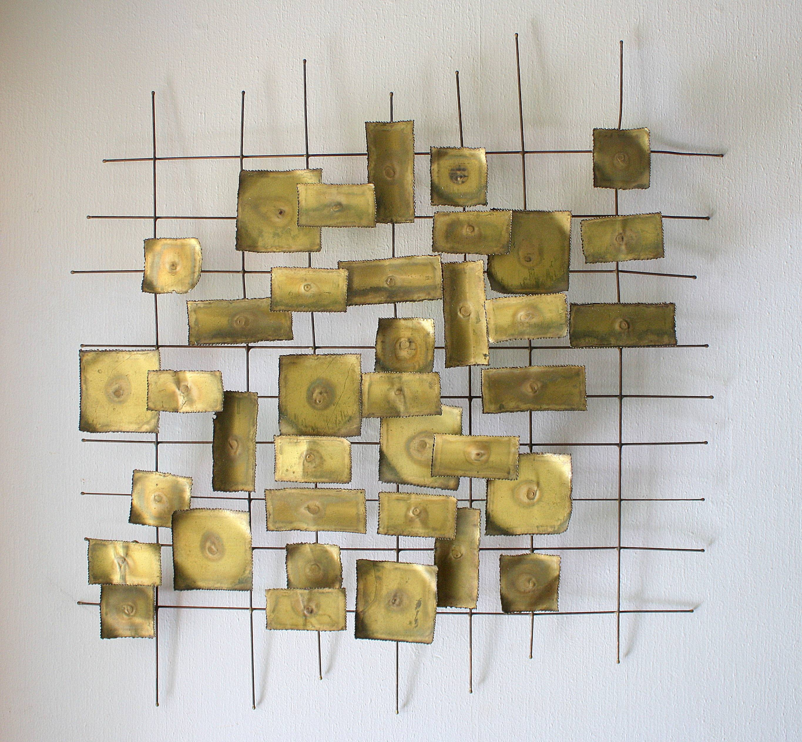 Mid Century Modern Brutalist Wall Sculpture Art | Picked Vintage Throughout Newest Mid Century Metal Wall Art (View 6 of 20)