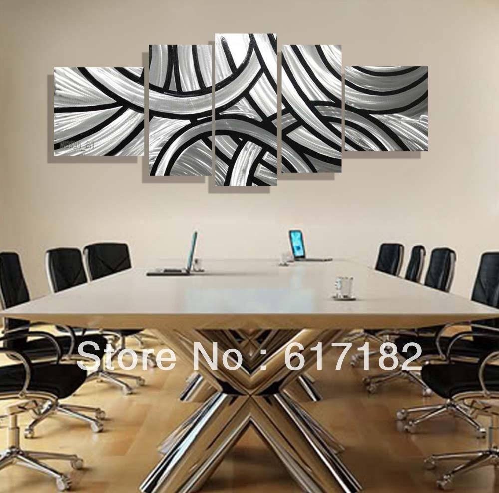 Modern Unique Design Irregular Handmade Metal Wall Art Fashionable Inside Most Up To Date Black And White Metal Wall Art (View 11 of 20)